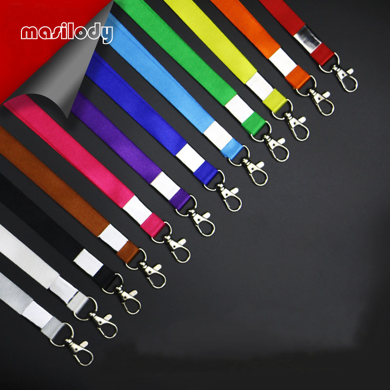 100pcs Lot 1 5CM Metal Hook ID Holder Lanyard Thicken Exhibition Lanyards Blank Neck Keychains Employee