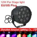 Best seller!12*1W Led Flat/slim Par Led Stage Light RGB LED Par party Light disco With DMX512 Par Led 3w DJ light Equipments