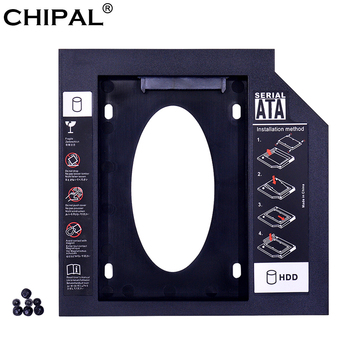 "CHIPAL Universal 2nd HDD Caddy 9.5mm SATA 3.0 for 2.5"" 2TB 9MM 7MM SSD Hard Drive Case Enclosure For Laptop DVD-ROM Optibay ODD"