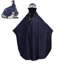 رجل إمرأة دراجة هوائية معطف مطر كيب المعطف مقنع يندبروف معطف واقي من المطر التنقل سكوتر غطاء مقنع معاطف