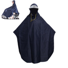 Mens Womens Cycling Bicycle Bike Raincoat Rain Cape Poncho Hooded Windproof Rain Coat Mobility Scooter Cover Hooded Raincoats