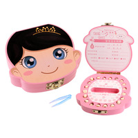 Baby Teeth Box Wooden Child Hair Storage Box Baby Souvenirs Boys Girls Tooth House Save Box