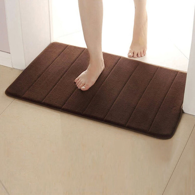 Non Slip Water Absorption Rug Bathroom Mat Shaggy Memory Foam Bath Mat Set kitchen Door Floor Mat Carpet For Toilet 40X60cm