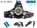 Cree 9000 Lumens Headlight XM-L 3XT6 LED Head Light 4 Modes Headlamp Lantern Hunting Head Flashlight +Car AC Charger + Battery