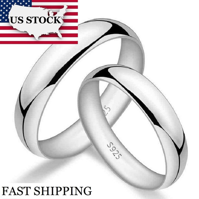 USA STOCK Uloveido Wedding Couple Rings for Men and Women Lovers' Gifts Engagement Ring Anel Masculino Jewelery Anillos 50% J017