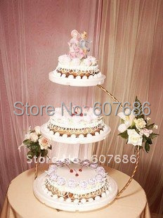 wedding cake stands to buy aliexpress buy 3 tier iron wedding cake stand 30 8767