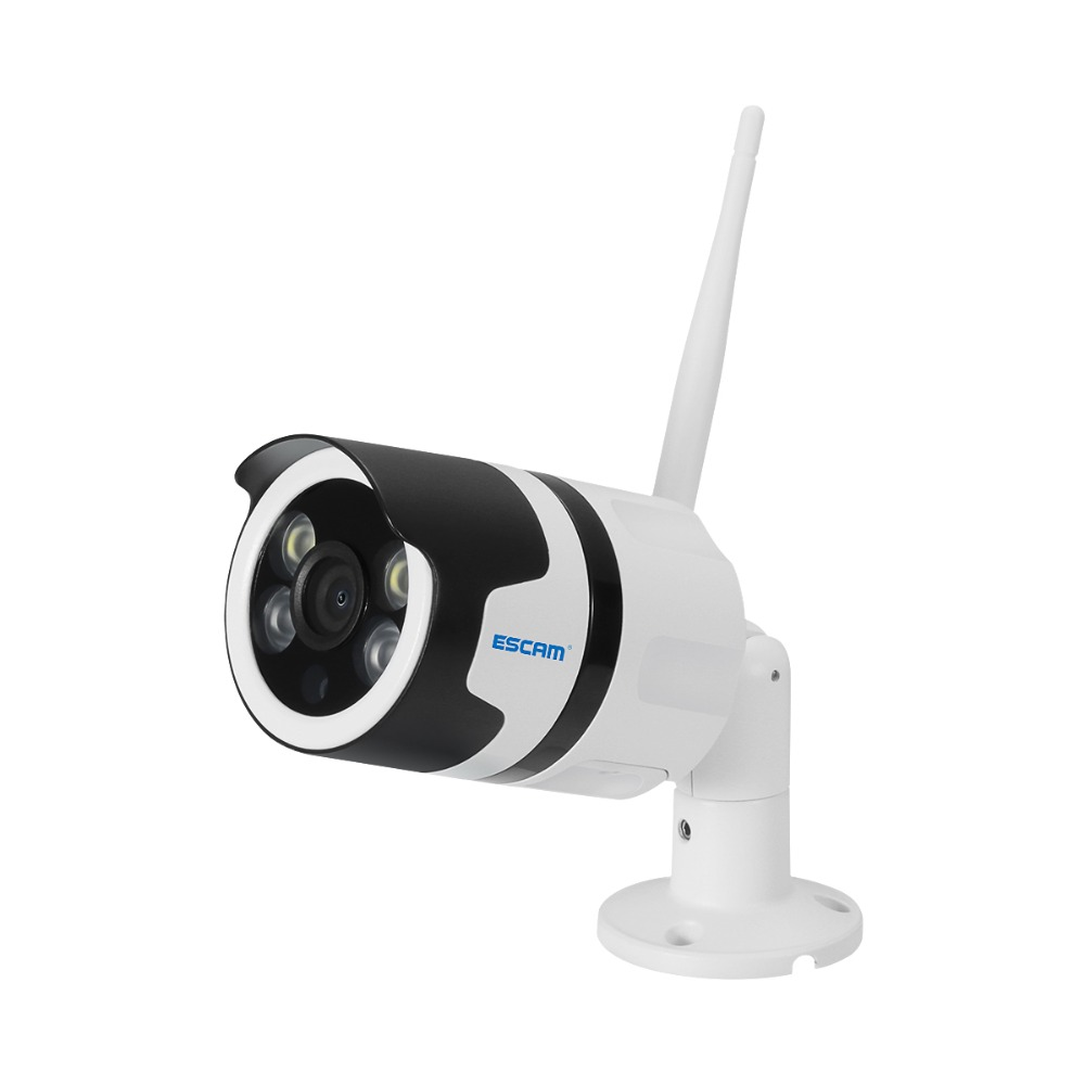 ESCAM QF508 HD 1080P Wireless Wifi IP Camera Outdoor IP66 Waterproof Surveillance Security Cameras Infrared Bulllet Camera escam qf508 ip camera 128g 1080p 2mp waterproof outdoor full color night vision security camera infrared bulllet camera
