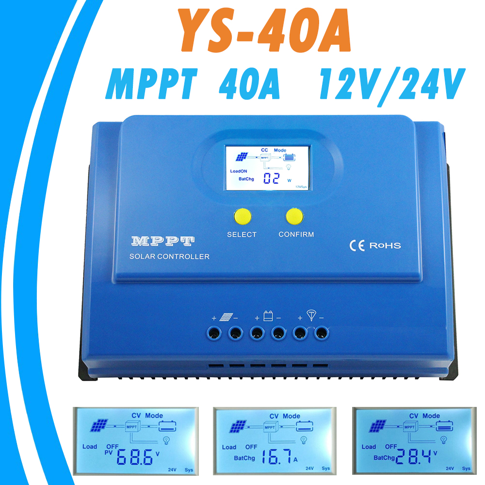40A MPPT Solar Controller 12V 24V Auto with Dual 5V USB Output Solar Charge Regulator Max 150V PV Input RS232/LAN Connector NEW купить