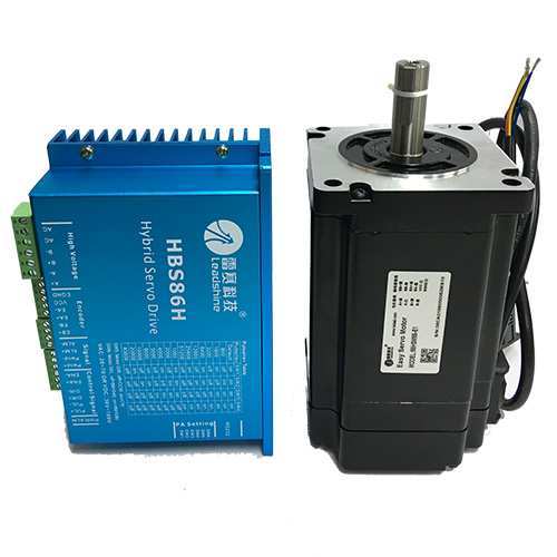 ES-D1008(HBS86H)andES-M23480(86HSM85-E1) Leadshine close loop hybrid servo drive and motor for CNC router cnc cutting machine nema23 3phase closed loop motor hybrid servo drive hbs507 leadshine 18 50vdc new original