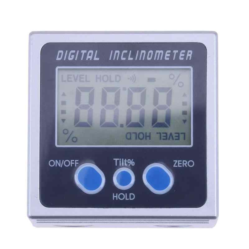 4 x 90 Electron Goniometers Electronic Protractor Digital Inclinometer Level Box Magnetic Level Measuring Tool Angle Meter
