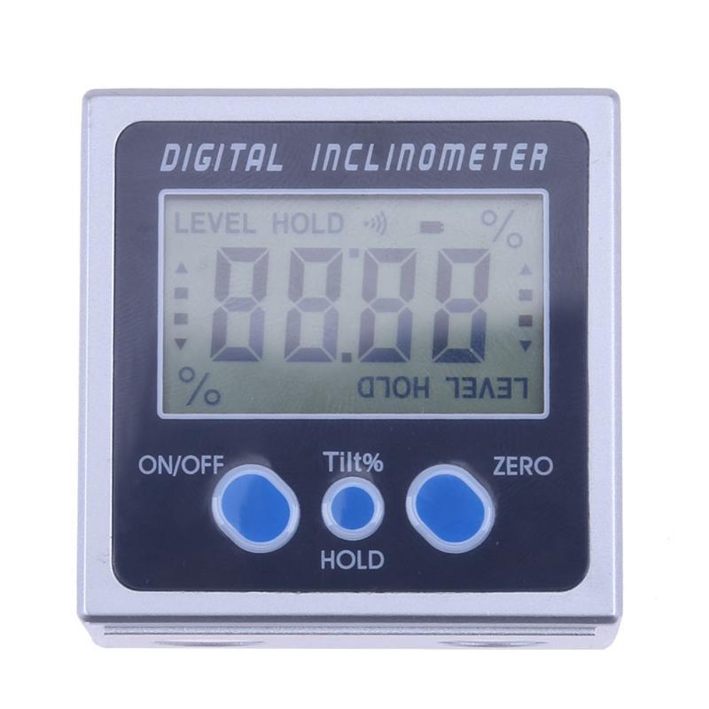 4x90 de electrones del ángulo electrónicos transportador Digital inclinómetro nivel caja magnética de medición de nivel de ángulo de la herramienta de