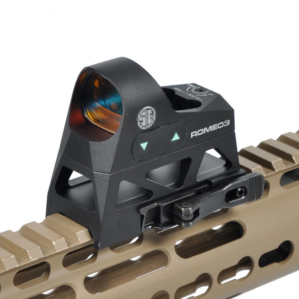 LAMBUL ROMEO3 1x25 Mini Reflex Sight 3 MOA Dot Reticle Red Dot Sight Scope Picatinny QD Mount for Rifles Carbines