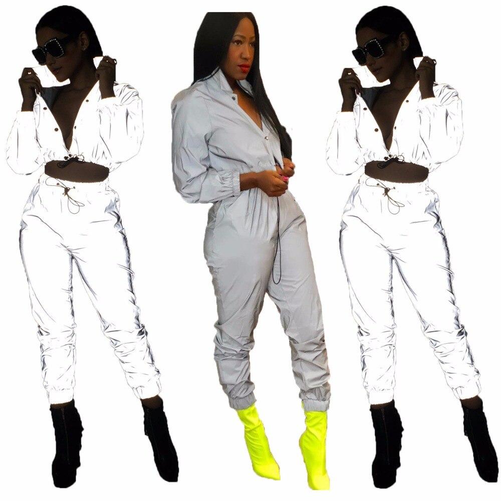 down Pièce Turn 2 Manches Et Crop Femme Single Longues gris Blanc Col Top Outfit Pantsjh063 Pur Survêtement À breasted Cordon Causal Couleur 0x8Sw