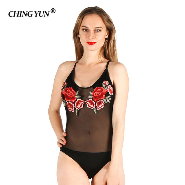 aa35e711a9 Summer Beach Woman Swimwear Solid Black Women s Swimsuits One Piece Screen  Backless Printing Ladies Bathing Suit Lace Sexy Girls