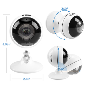 Image 3 - ZOSI Wireless IP Camera WiFi Panoramic Fisheye Video Surveillance Camera 3MP Ultra HD 360 Full Degree View Angel VR CCTV Camera
