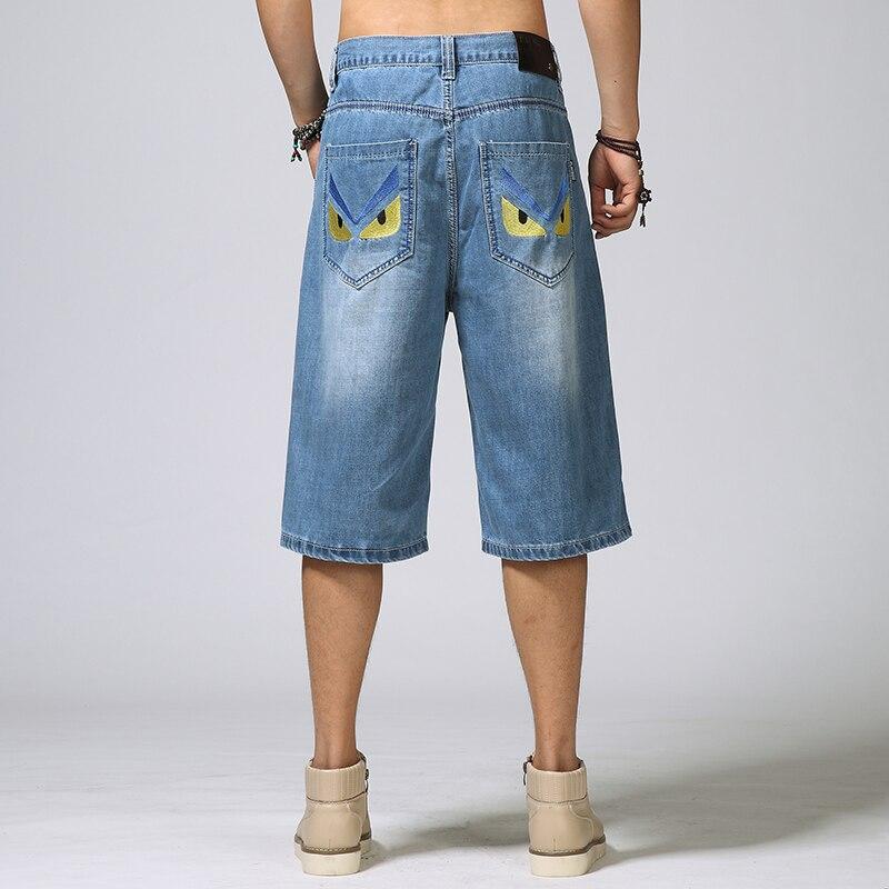 Hiphop hip-hop jeans male plus size breeched skateboard capris shorts big size lole капри lsw1349 lively capris xs blue corn