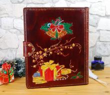 Christmas Gift Book Naughty or Nice Leather Journal Notebook Santa Handmade TiVergy