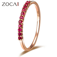 ZOCAI BRAND 0.14 CT 100% NATURAL GENUINE RUBY RING 18K ROSE GOLD ENGAGEMENT RING WEDDING BAND W02308 SAPPHIRE STONE AVAILABLE