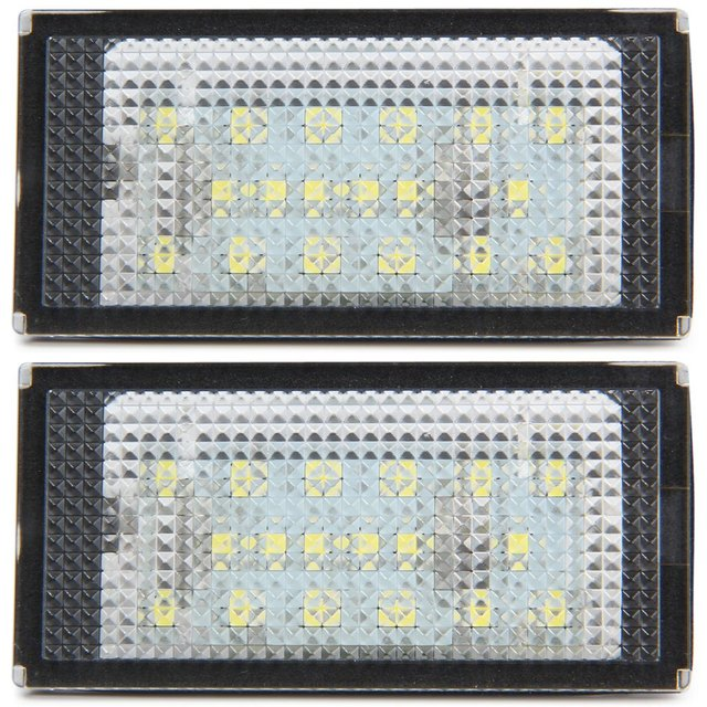 New Auto Car License Plate Lamp with SMD 3528 White Light 18 LEDs License Plate Lamp for BMW E46 2D 98 – 03 – 2pcs for Vehicle
