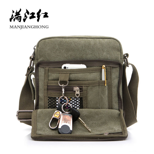 Multi-functional Casual Messenger Bags Men Canvas Leisure Men Shoulder Bags Vintage Small Crossbody Satchel Bag For Men