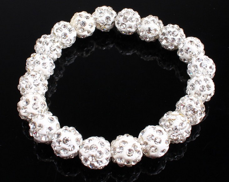 10mm mix hotsale new style Disco beads AB clay handmade Crystal crystal Bracelet Jewelry for women men Bangles lot