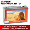 Dois em um 1080 p 720 p ahd tester cctv câmera de segurança de vigilância TESTADOR de 4.3 polegada TFT LCD MONITOR a CORES Com Cabo de Rede de Teste
