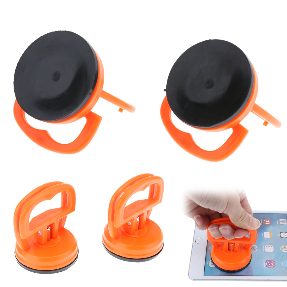 2pcs Suction Cups Orange Durable Suction Cup Suckers For Mobile Phone Screen Glass Lift Vacuum Strong Suction Cup Hand Tools