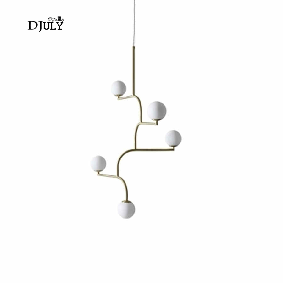 Chandeliers Lights & Lighting Italian Design Swing Arm Glass Ball Chandelier Lighting For Kitchen Bar Modern Hanging Lamp Living Room Decoration Light Fixture