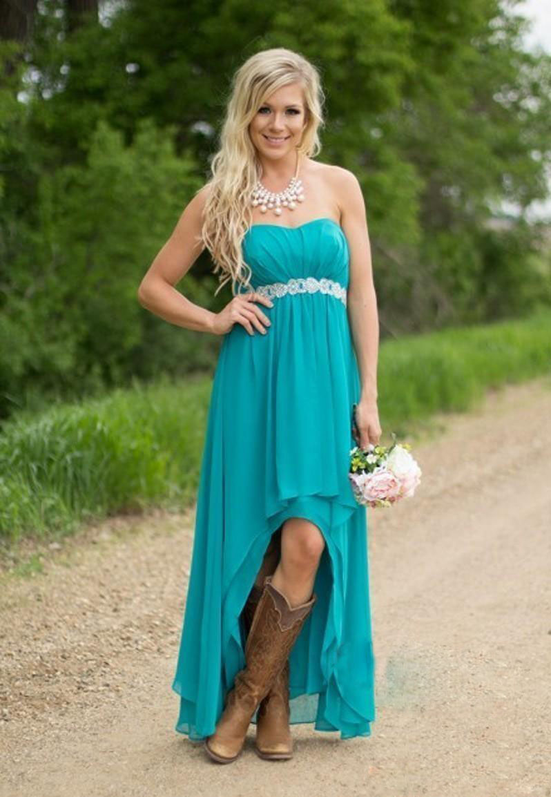 Purple Bridesmaid Dresses with Cowboy Boots Country | Dress images
