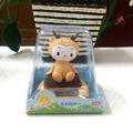 Free Shipping Retail Packing Swing Head  Under Full Light  No Battery Mini Cartoon Toy Fawn Happy Dancing Solar Promotion Gift