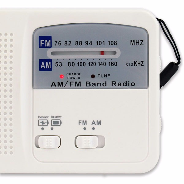 Hot Sale FMAM Radio Solar Flashlight (8)