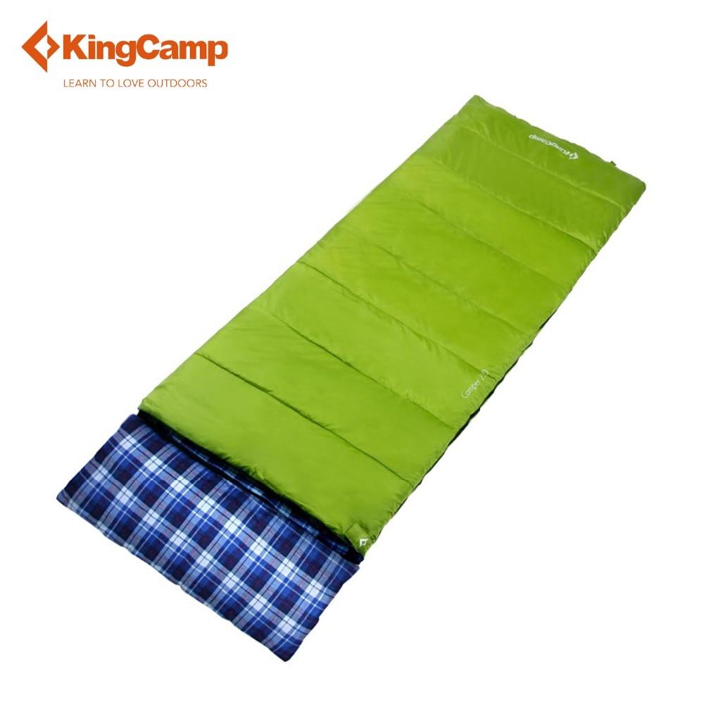 KingCamp спальный мешок ленивый мешок Кемпер 250 конверт всесезонные фланелевой подкладке спальный мешок для кемпинга альпинизмом