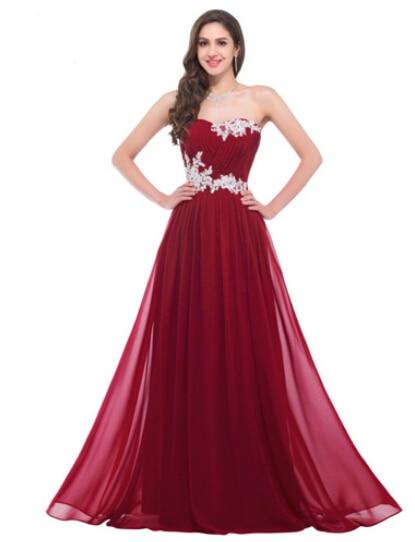 6ca6e29f43326 Pink Dark Red Elegant Sweetheart Special Occasion Dress | weddress