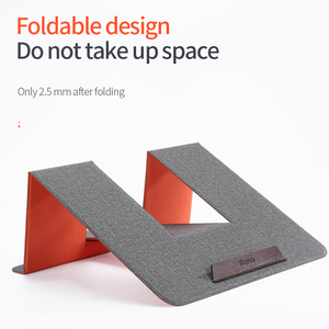 Image 1 - Leather Portable Laptop Stand Support Notebook Ultra Thin Base Notebook for 10 17 inch Holder laptop Stand for Macbook Thinkpad