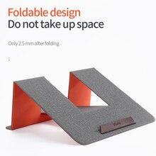 Lederen Draagbare Laptop Stand Ondersteuning Notebook Ultra Dunne Base Notebook Voor 10 17 Inch Houder Laptop Stand Voor Macbook thinkpad