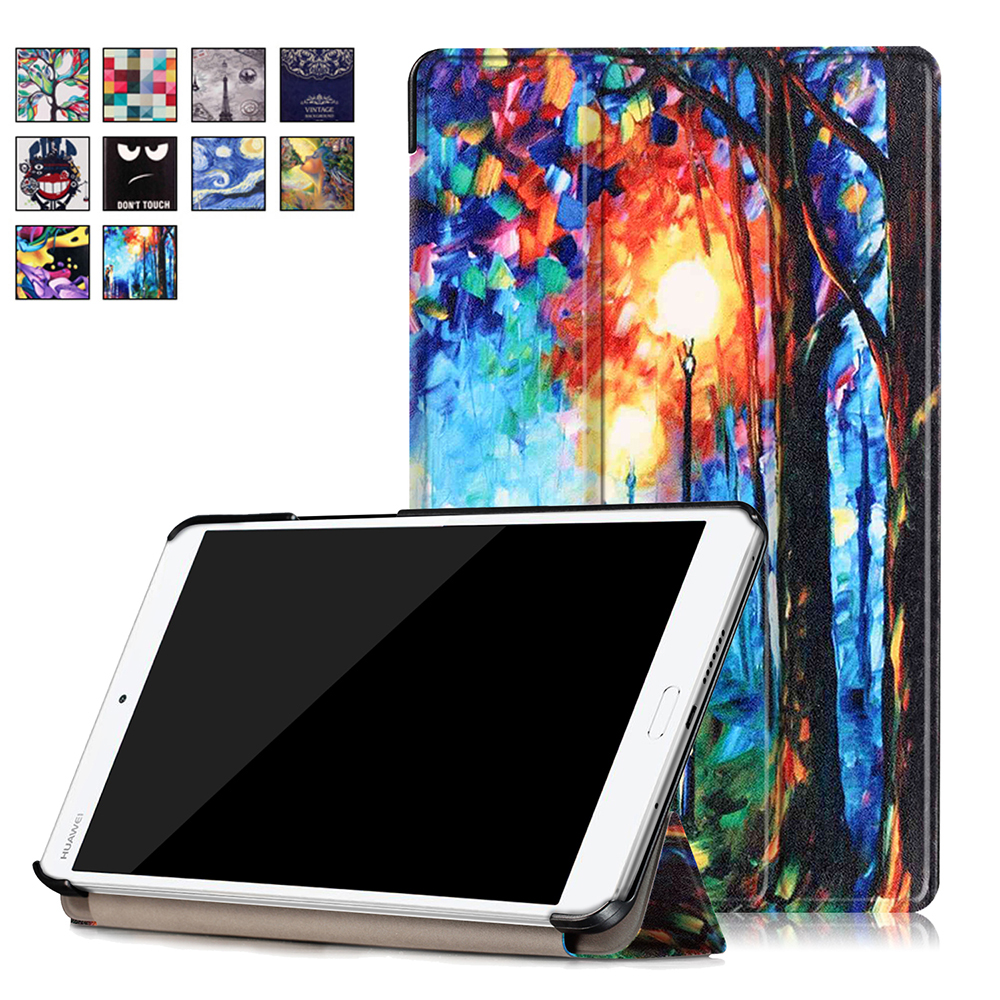 for Huawei 2016 [M3 8.0] Case, Ultra Slim Case + PU Leather Smart Cover Stand Auto Sleep/Wake for 8.4 Mediapad BTV-W09/BTV-DL09 ultra slim magnetic stand leather case cover for huawei mediapad m3 lite 8 0 cpn w09 cpn al00 8tablet case with auto sleep