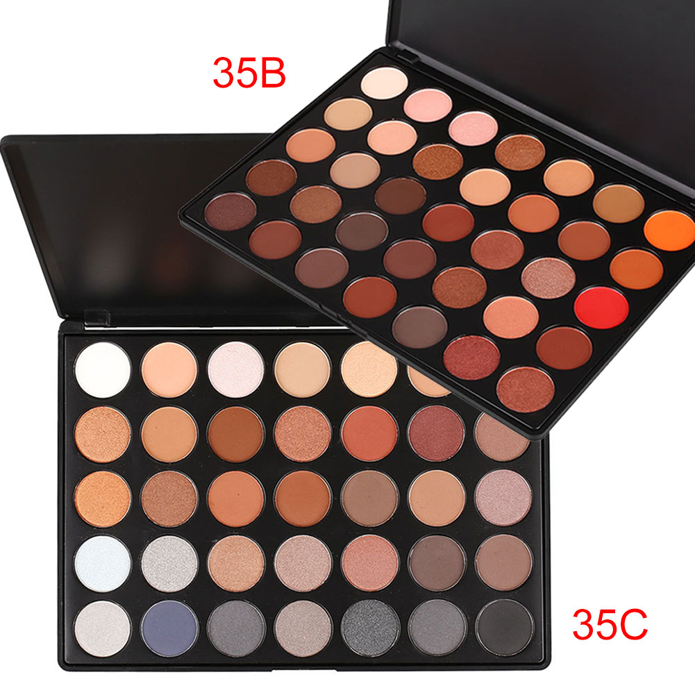Profissional 35 Colors Eyeshadow Palette Natural Shimmer Matte Makeup Set Eyes Beauty Make Up Cosmetics Eye Shadow HJL20