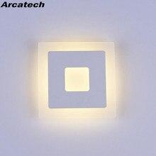 18w Led Acryl Wand Lampen AC85 265V Moderne Einfache Schlafzimmer Lichter Indoor esszimmer Flur Beleuchtung Aluminium Wand Leuchte NR13
