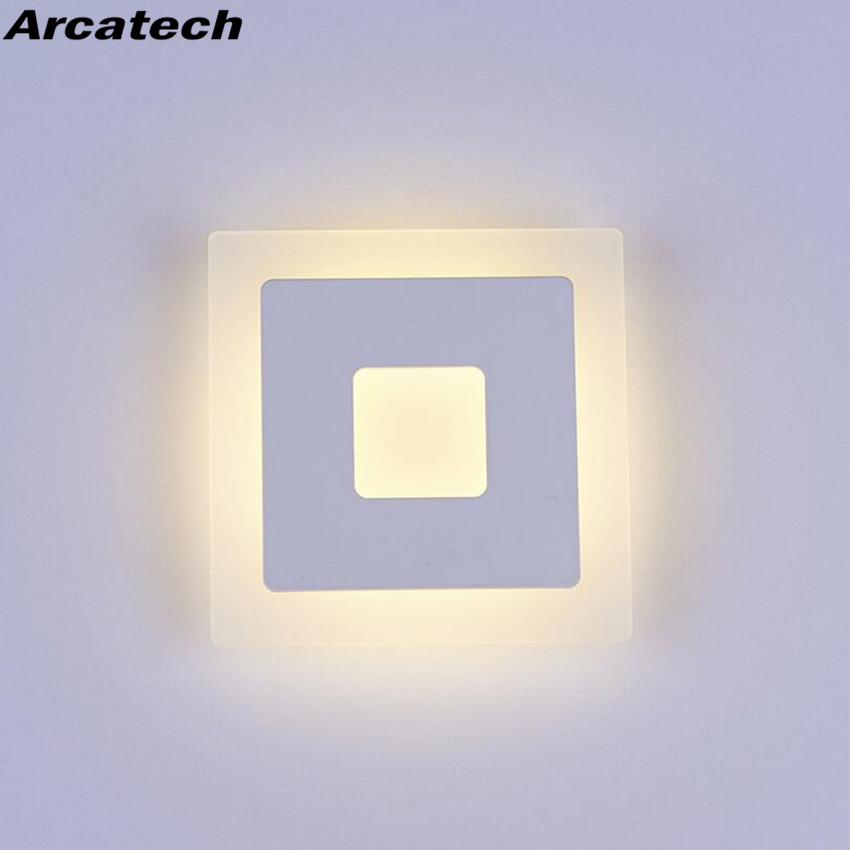 18w Led Acrylic Wall Lamps AC85 265V Modern Simple Bedroom Lights Indoor Dining room Corridor Lighting Aluminum Wall Sconce NR13-in LED Indoor Wall Lamps from Lights & Lighting