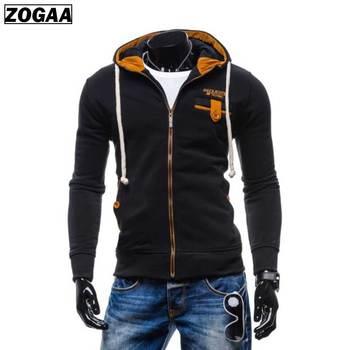 ZOGAA Mens Casual Hoodies Fashion Color Block Hooded Zipper Jackets Men Clothes 2018 Brand New Harajuku Sweatshirts Man