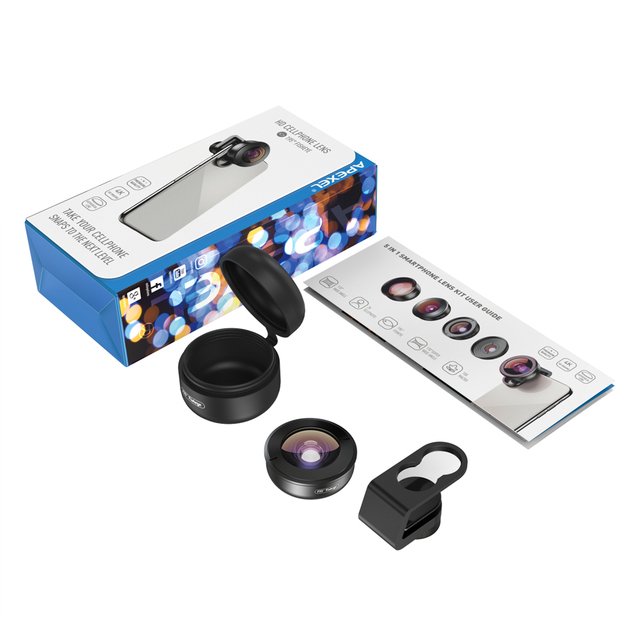 APEXEL HD 195 degree super fisheye lens phone camera lenses with universal clip for Xiaomi Huawei all smartphone dropshipping 5