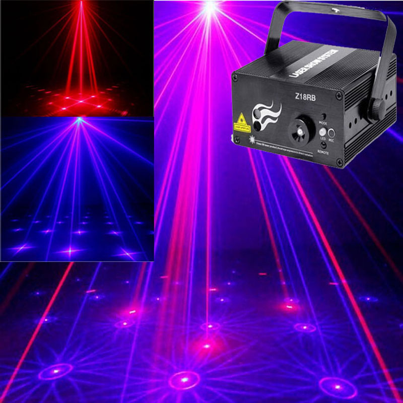 New Upgrade Blue LED Mini Laser Projector Stage Holographic Light Dj Laser Light Show Equipment Shower Projector 3 lens 36 patterns rg blue mini led stage laser lighting professinal dj light red gree blue