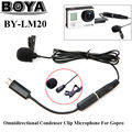 Free shipping!!! BOYA BY-LM20 Omni stereo Directional Condenser Microphone for GoPro Hero 4 2 3 3+