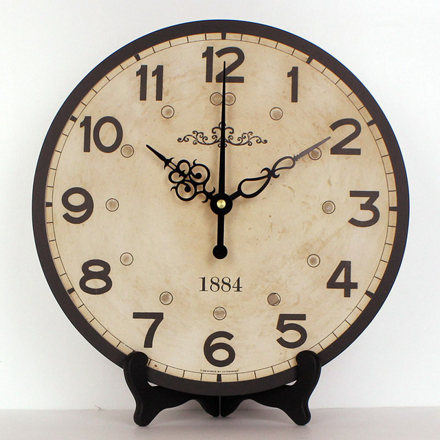 wholesale Europe style home decor more quite table clock waterproof clock face fashion bedroom table watch wall Best gift