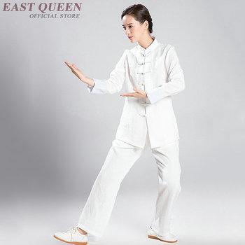 Tai chi clothing uniform women costume Tai chi clothes female Chinese style white pants suit wushu kung fu clothing   FF698
