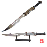 Final Fantasy Xiii Lightning's Sword Metal Steel Blade Cosplay Prop Wooden Stand For Free No Sharp Supply