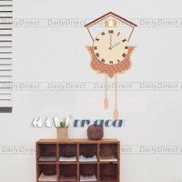 1x Wholesale Large DIY Brown Creative Wall Sticker Clock Decal Room Decor Mural Art 25A021 MAX3 Brand High Grade PVC Decal
