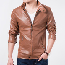 Brand Quality Men 's Leather Jacket Free Shipping Business Male Clothing Thick Winter Garment.D0883.