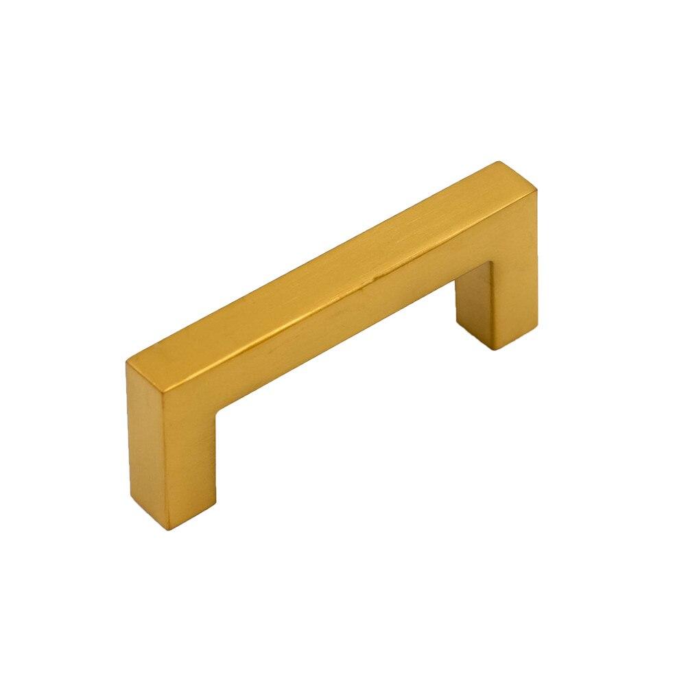 Gold Square Drawer Dresser Pulls J12GD 3\