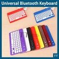 Universal Ultra delgado de aluminio de teclado Bluetooth inalámbrico para el ipad mini IOS Android Windows tablet PC + touch pen